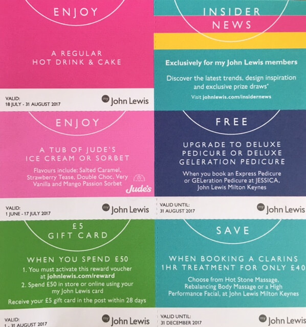 John Lewis reward voucher
