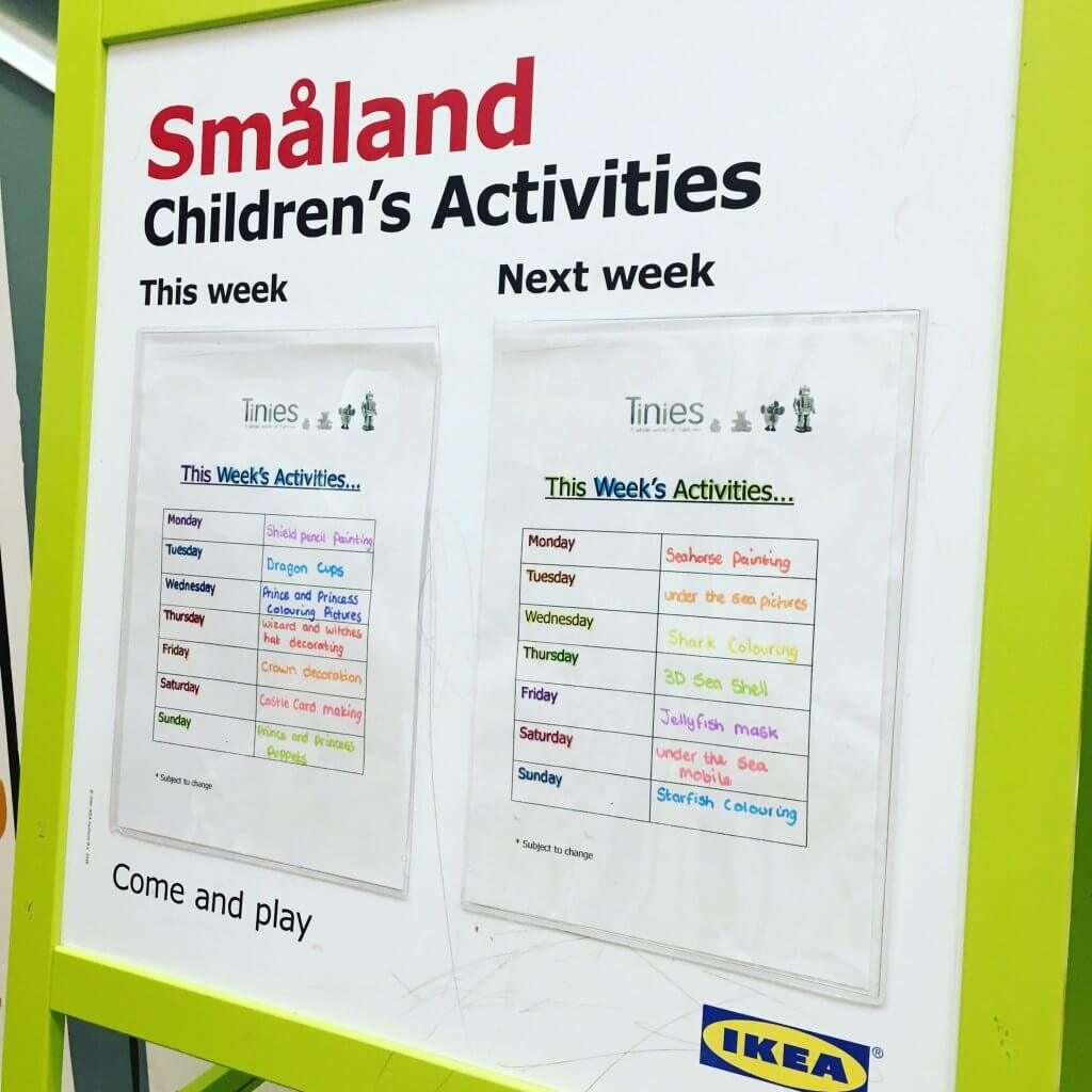 IKEA free creche activities - part of my frugal ideas for the summer holidays