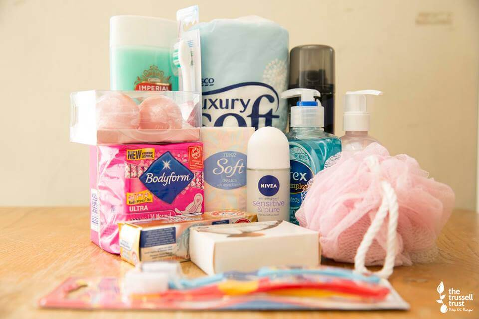 toiletries for food bank donations #FoodBankAdvent
