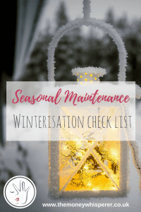 It's important to 'winterise' your home before the winter arrives, both for your safety and to save money in energy bills and repair costs. Here's my winter checklist for you to help with your seasonal maintenance