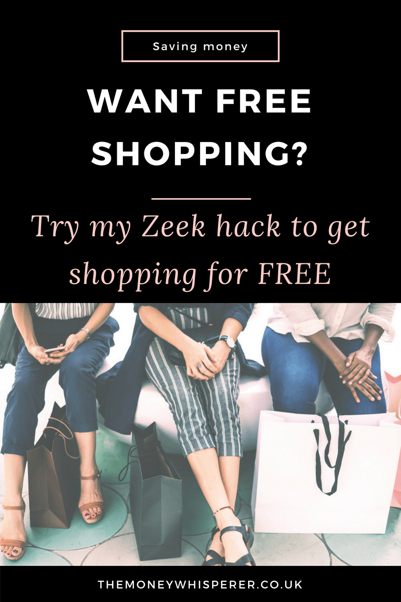 Want free shopping? Try my Zeek hack to get your shopping for free
