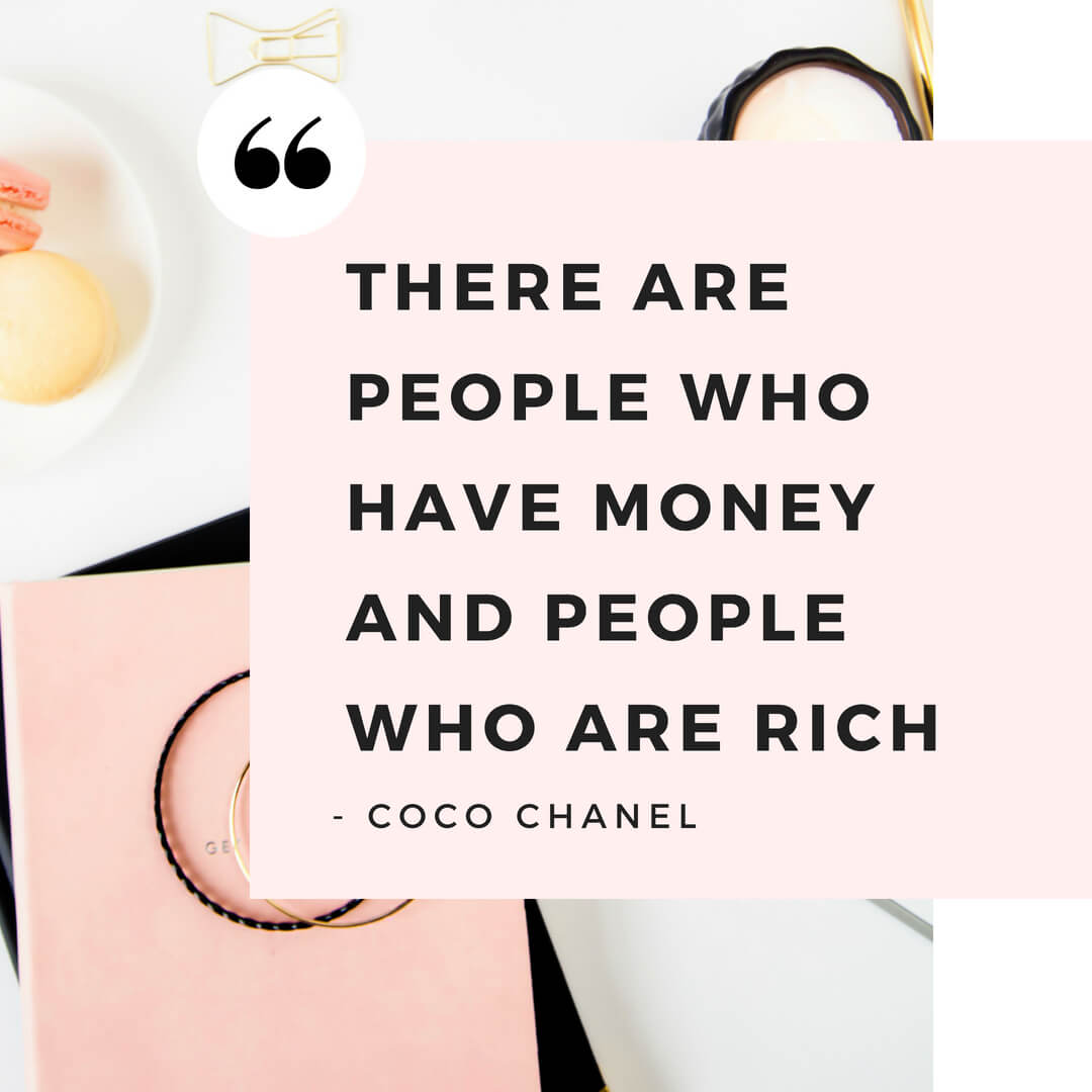 Wealthy woman quote by Coco Chanel
