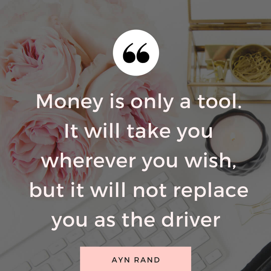 Wealthy woman quote by Ayn Rand