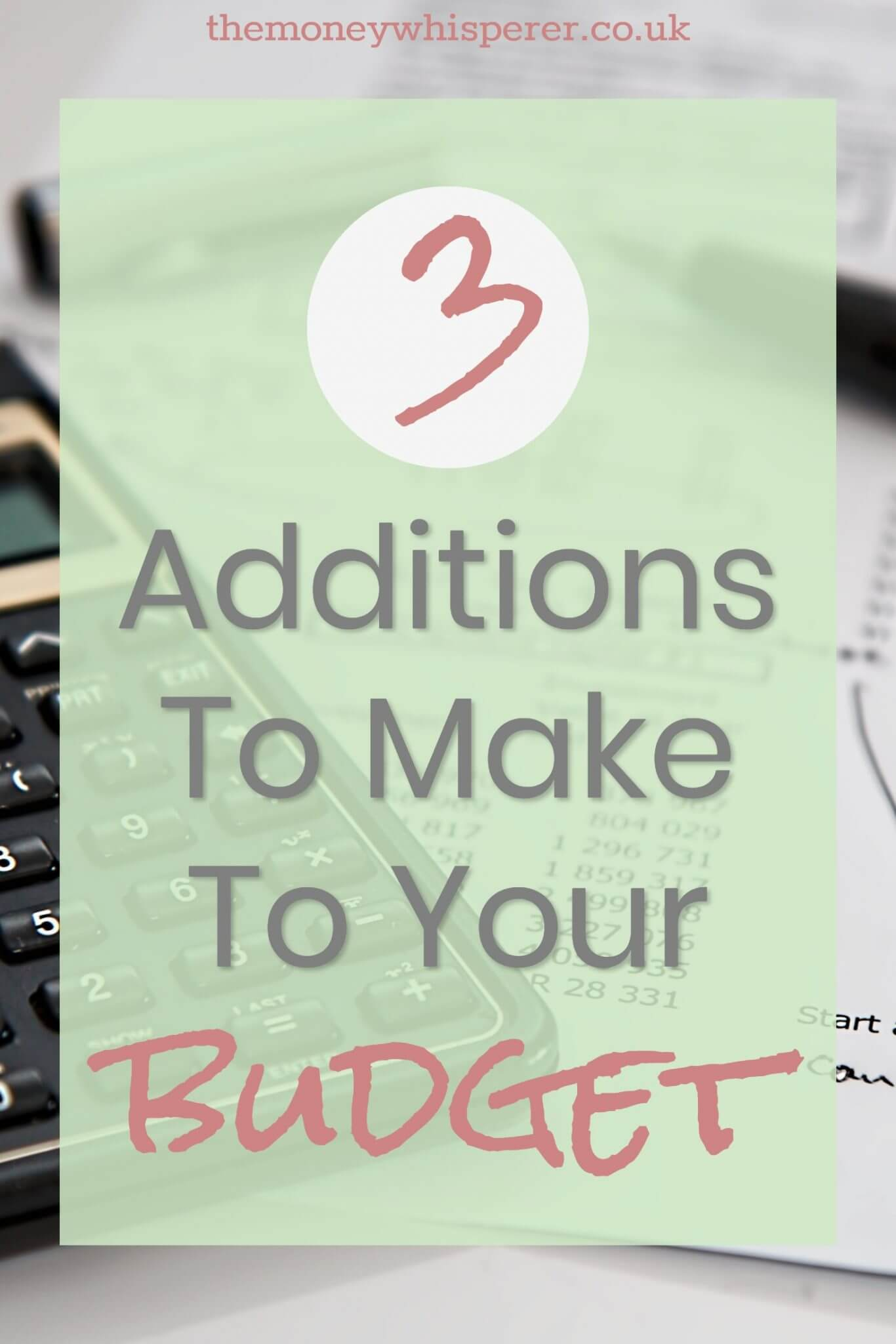 3 important additions to your budget that you might be leaving out - make sure you have these included. #budget #budgeting