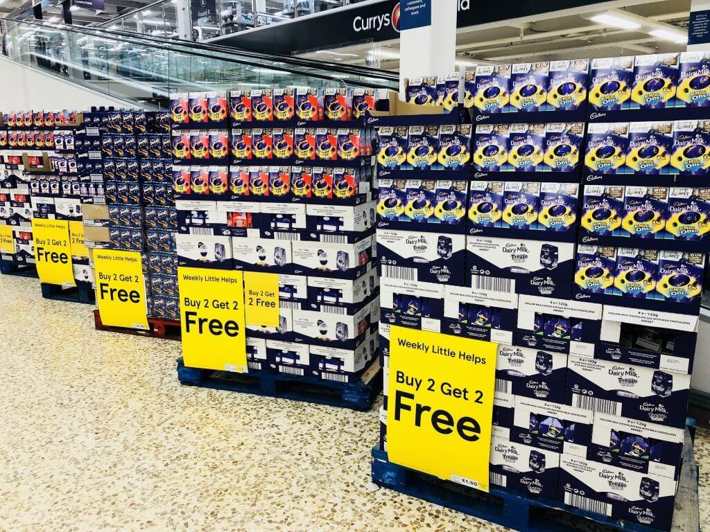 Pallets of bargain Easter eggs