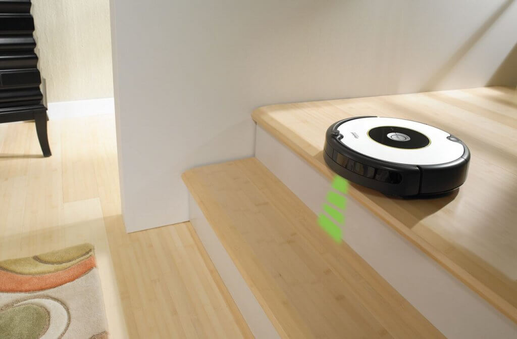 iRobot cleaning wooden floor
