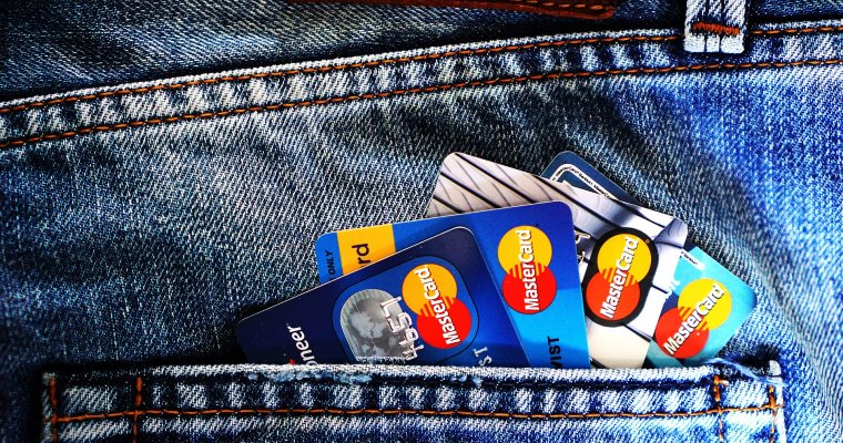 credit cards in back pocket of jeans -