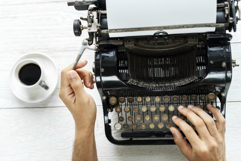 Typewriter - freelance writing