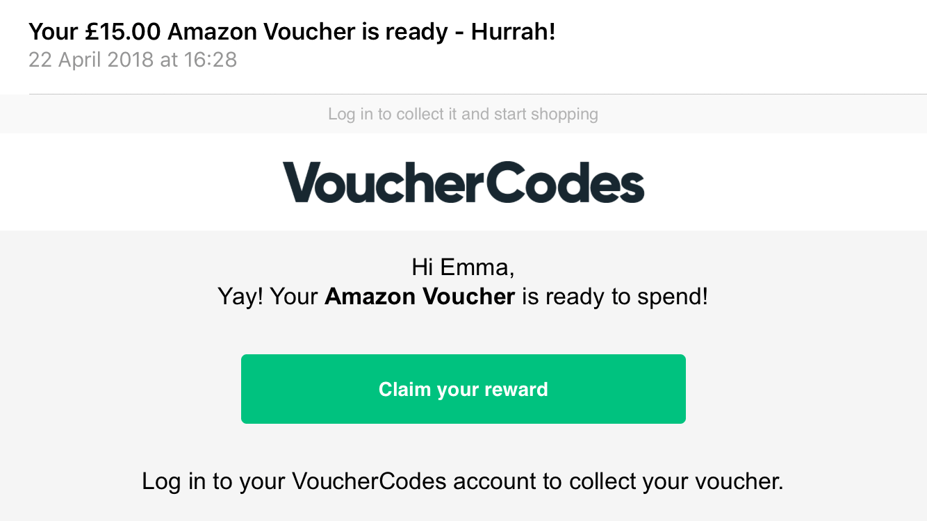 vouchercodes saving rewards