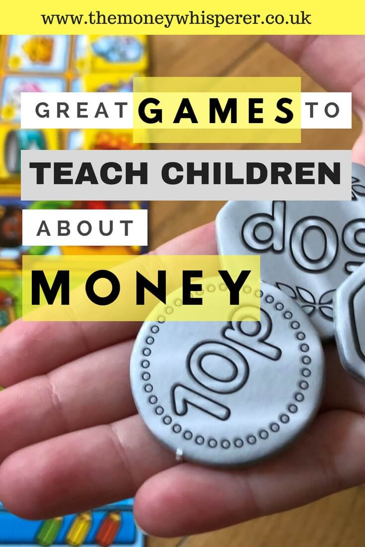 4 great games to teach children about money #financialliteracy #moneygames #childrenandmoney #learningaboutmoney