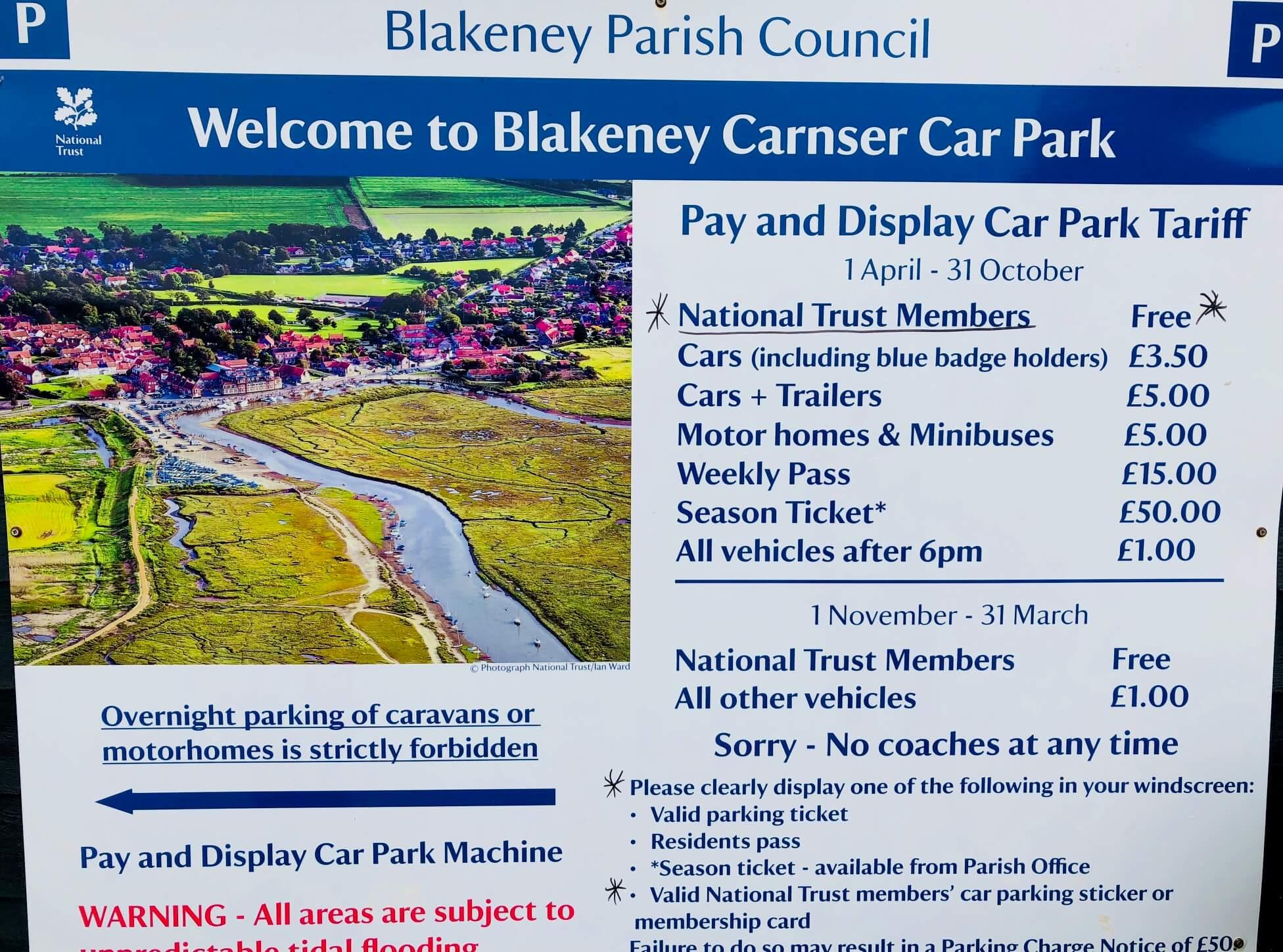 Free National Trust coastal parking