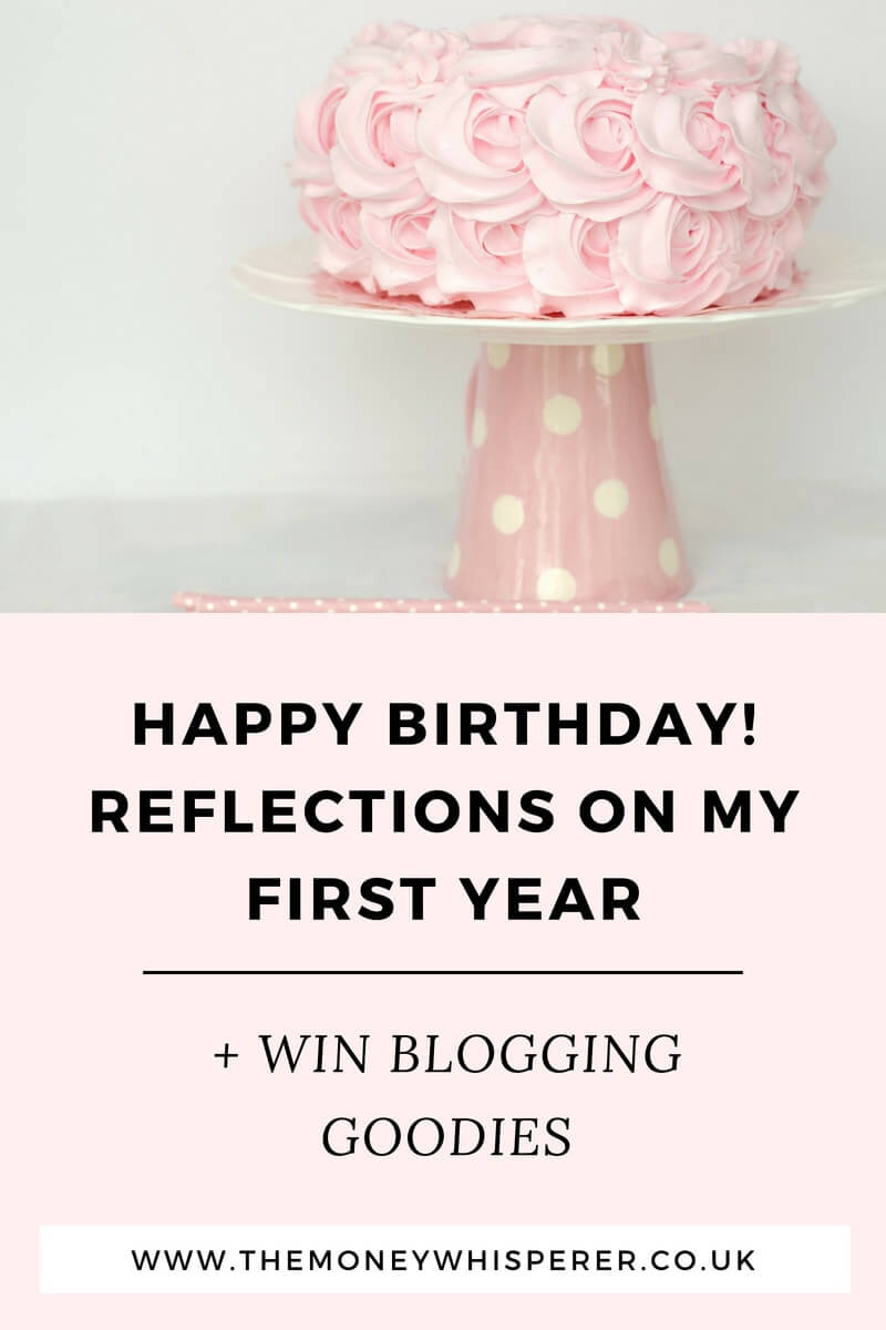 Reflections on my first year of blogging at The Money Whisperer. #firstyearblogger #blogging #blogger #moneyblogger #bloggingyourwaytoriches #giveaway