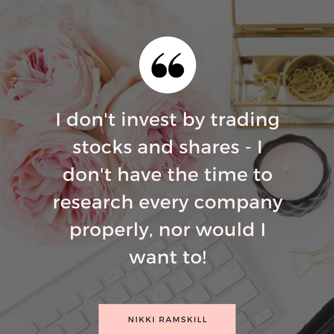 Quote on investing by woman investor