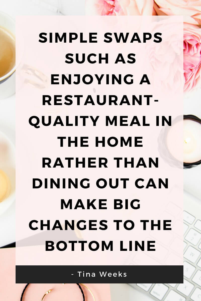 Dine at home to save money graphic
