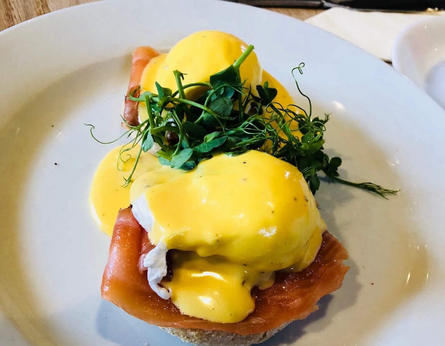 Eggs benedict at Back to the Garden