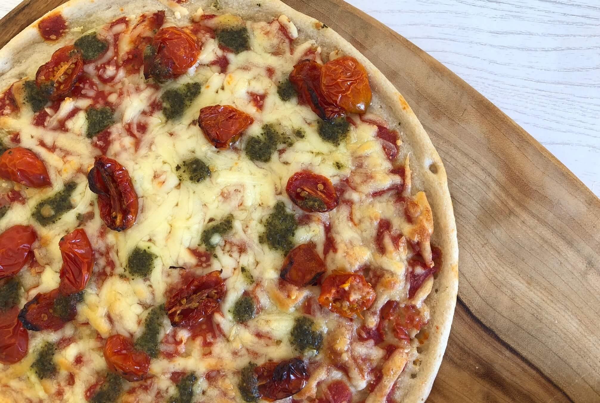 Goodfellas four cheese and basil pesto pizza