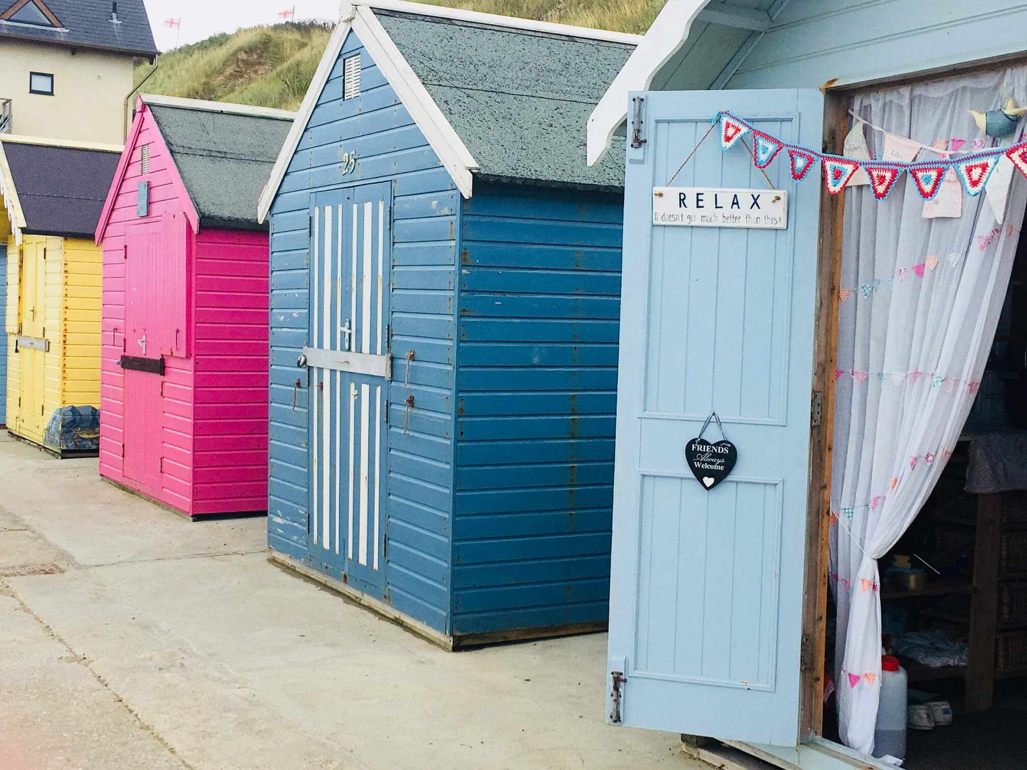 Beach huts at Sheringham