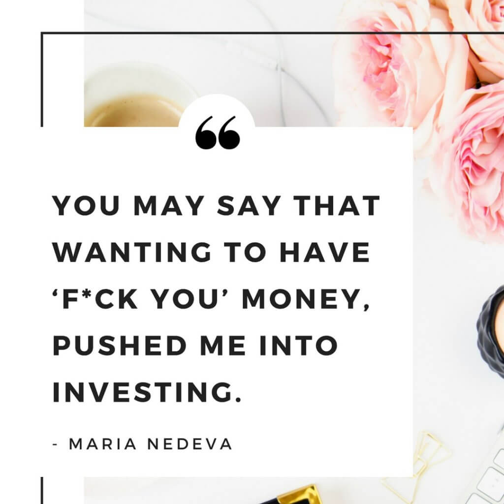 Women investor series: What pushed Maria in to investing