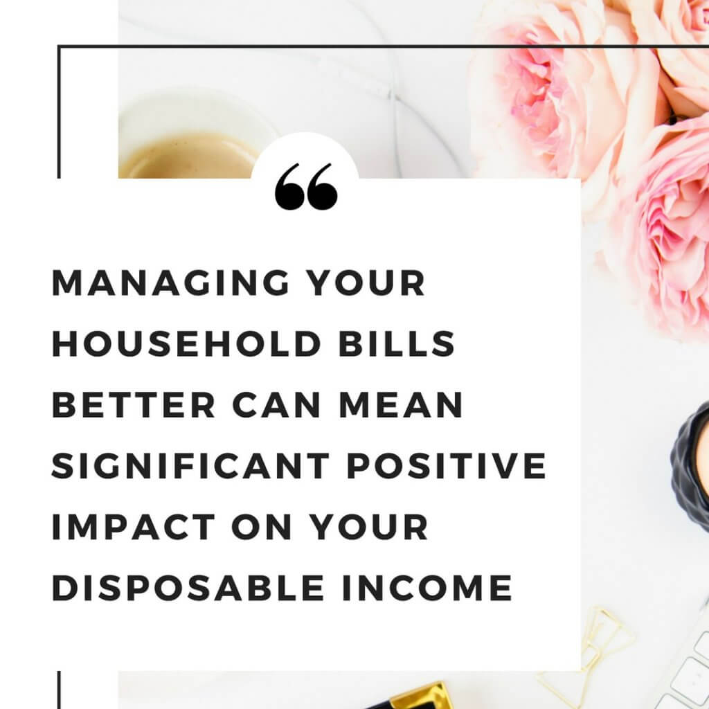 Managing household bills quote