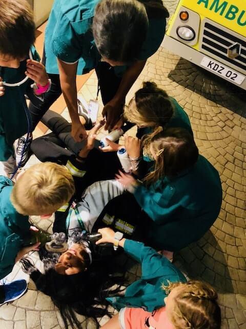 Paramedic training at the Kidzania A&E