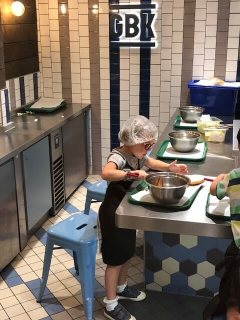 Gourmet Burger Kitchen experience at Kidzania