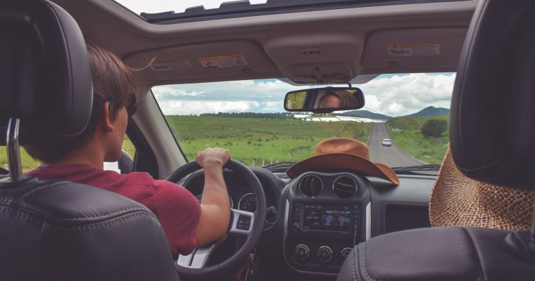 View through a car from backseat - car sharing insurance article
