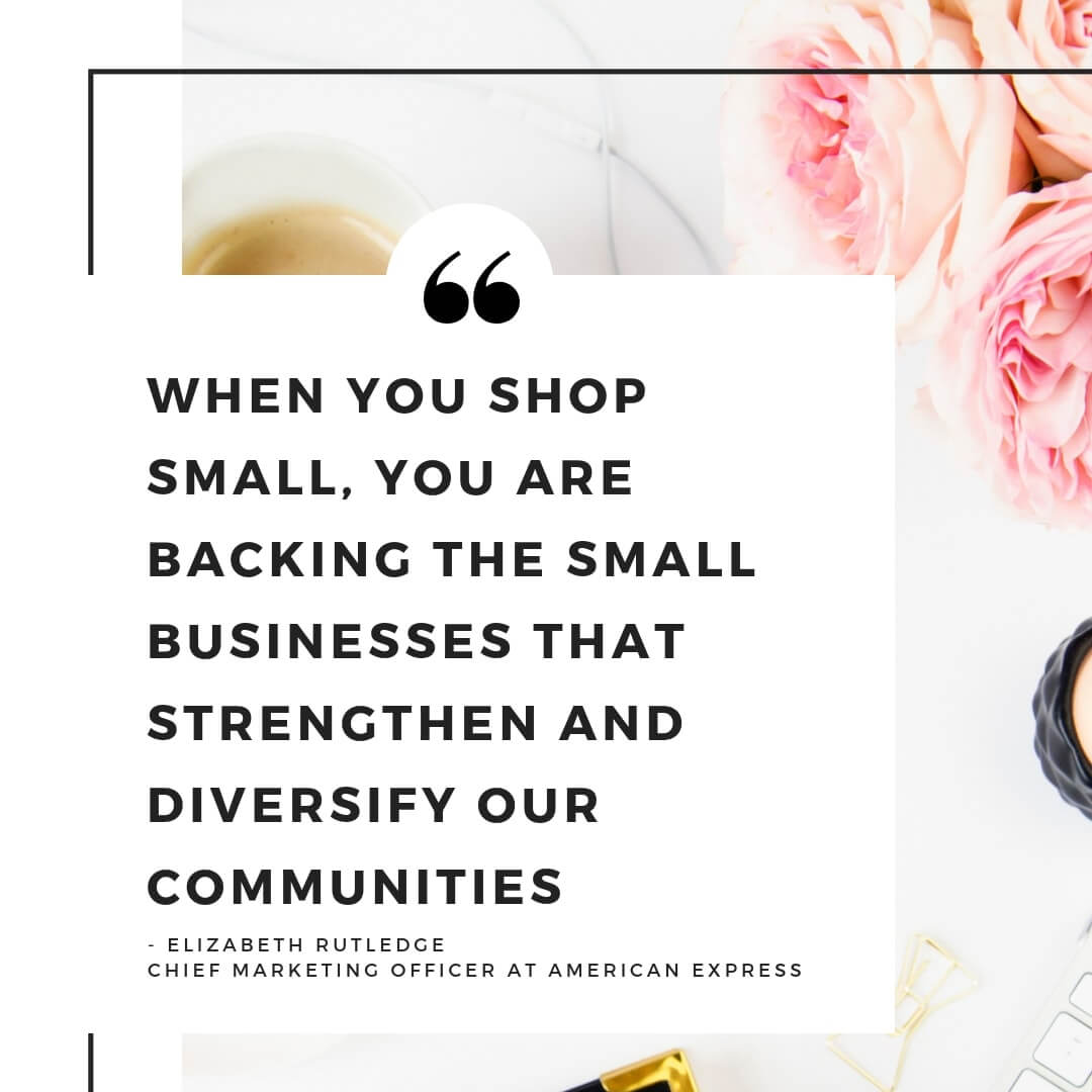 Shop Small with AMEX - quote