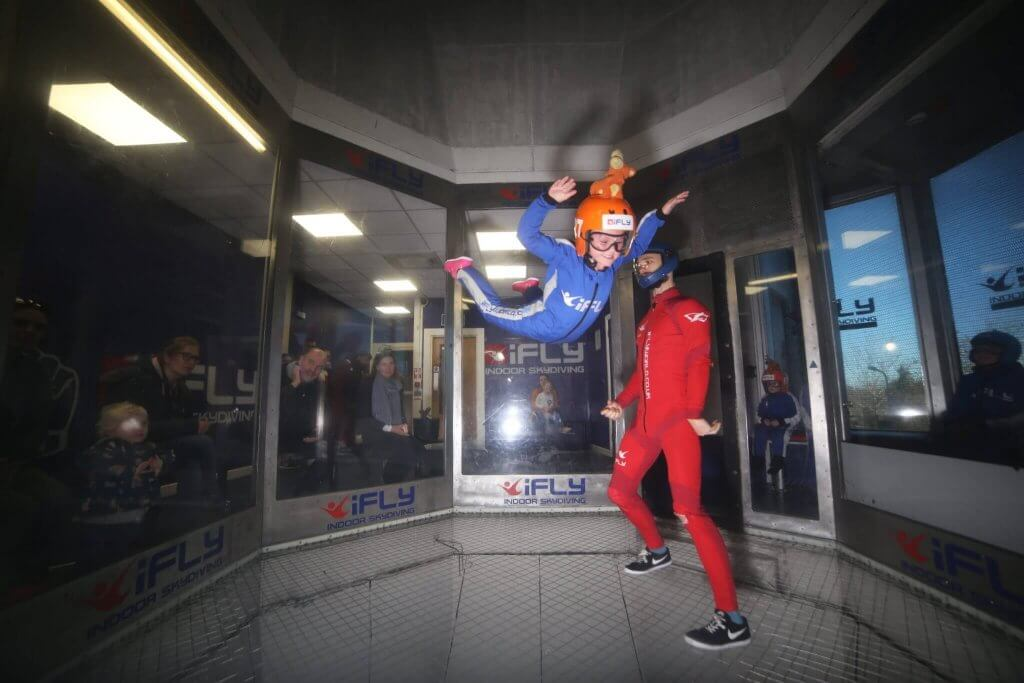Sky diving with iFly at Milton Keynes