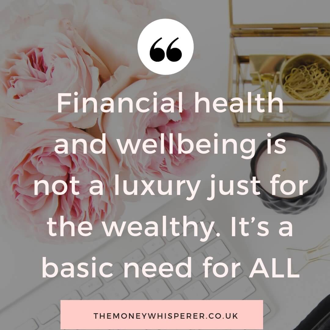 Financial health and wellbeing quote