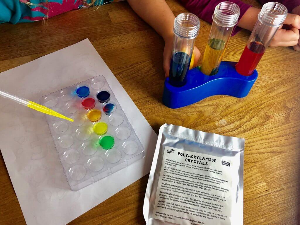 Making colourful crystals with the best STEM toys on the market - Rainbow Lab