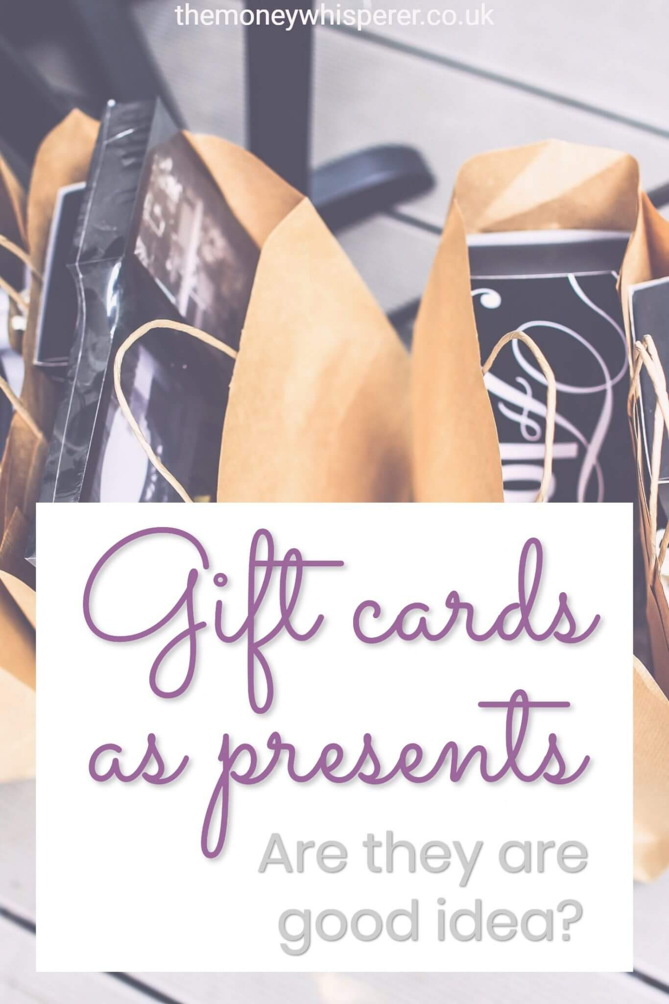 Are gift cards a good present? Whilst they are easy for the gift giver, there are reasons why they aren't a great gift for the recipient. I've taken a look here and give some tips on making sure you avoid losing out on receiving your gift.
