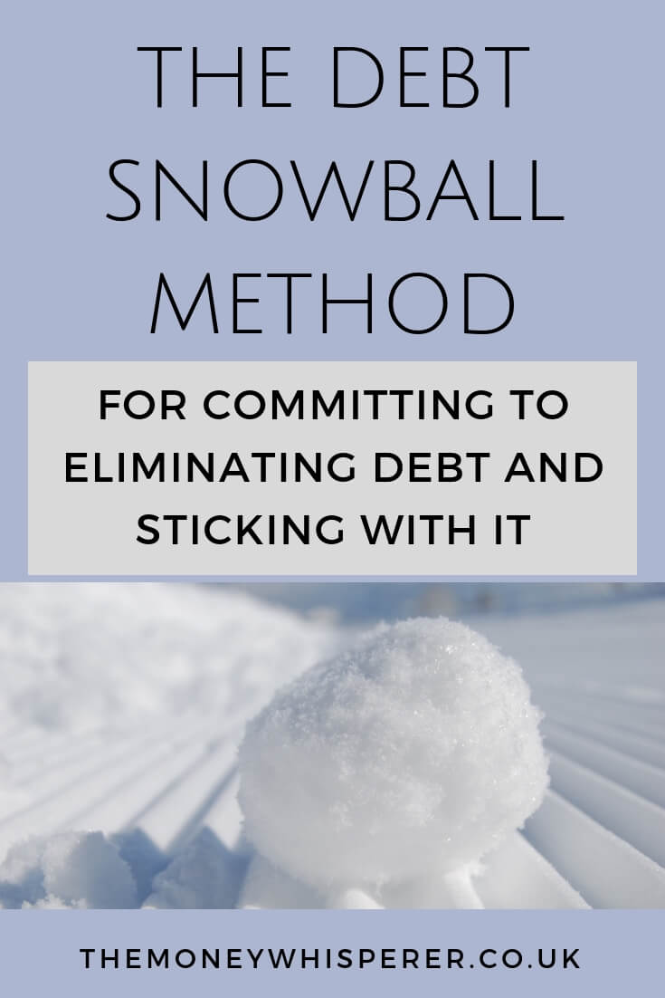 Debt snowball method for committing to eliminating debt and sticking with it #debtsnowball #managingdebt #payingoffdebt #debtfree