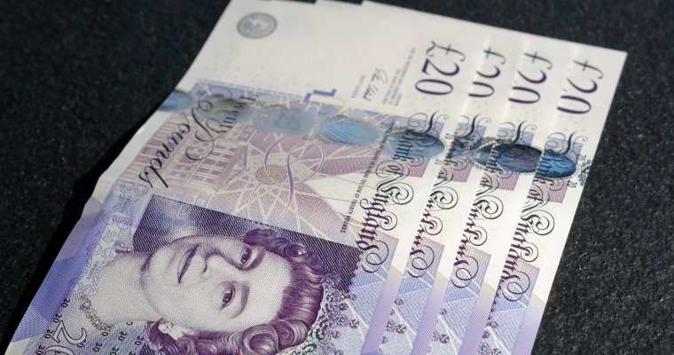 Stash of £20 notes - good to boost retirement savings