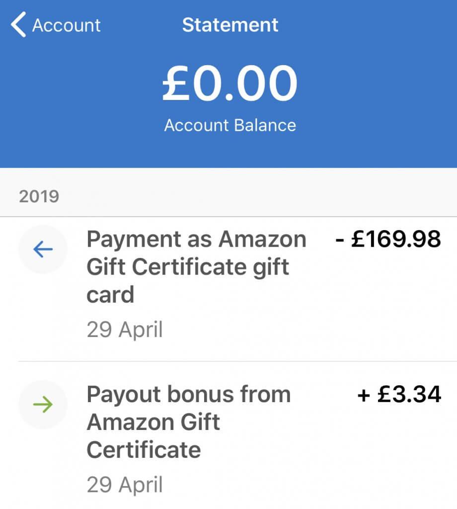 Amazon Quidco credit