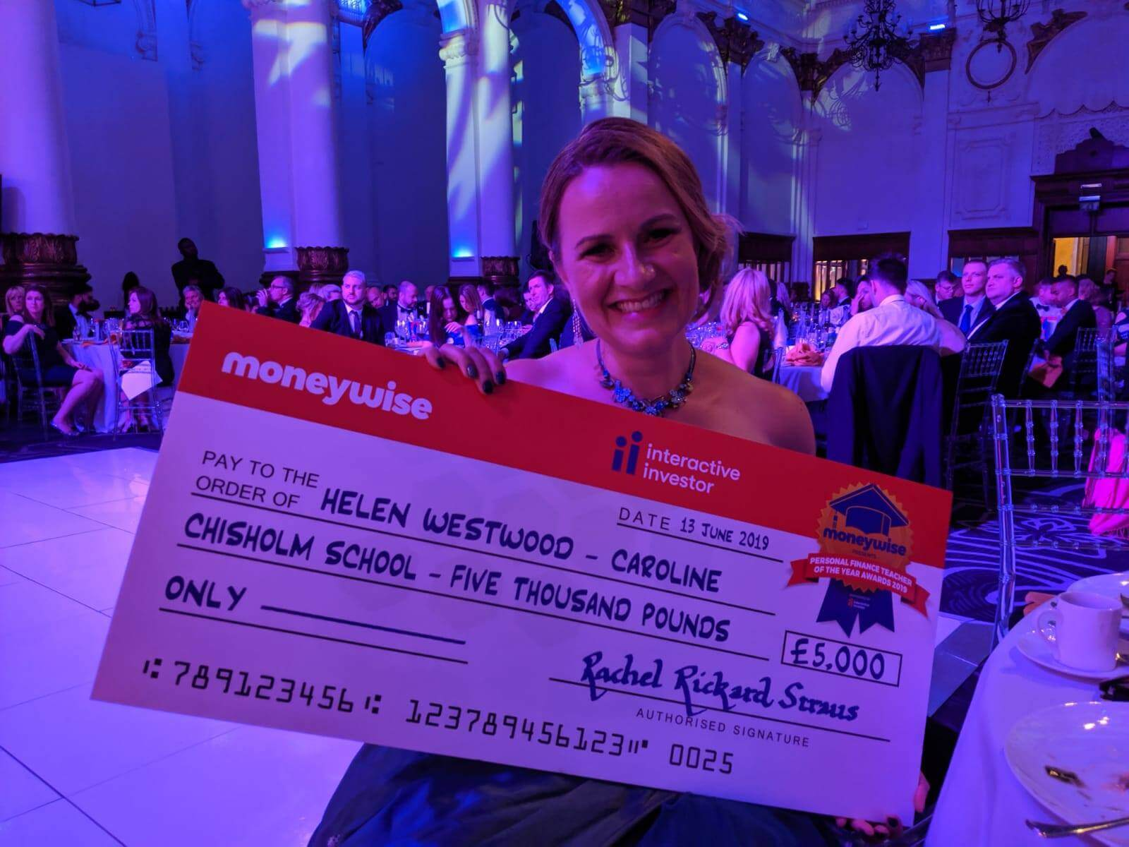 Helen Westwood Personal Finance Teacher of the year 2019 Moneywise