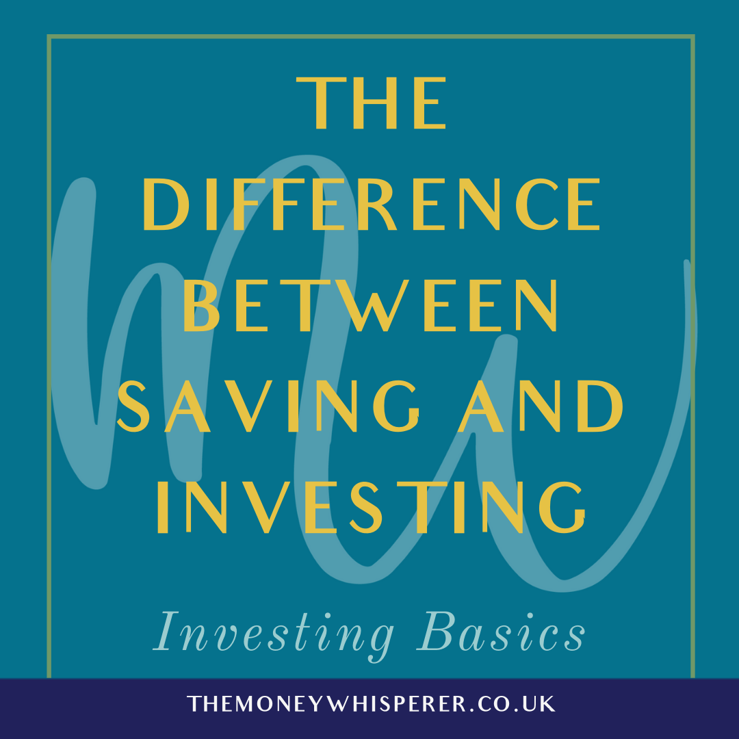 difference between investing and saving