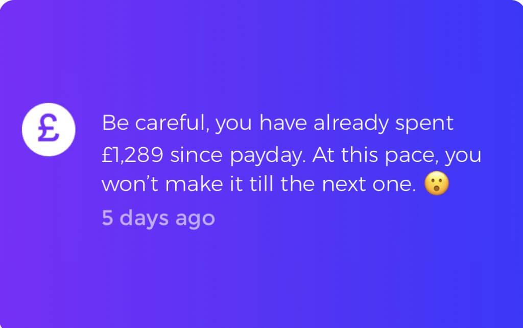 Emma money management app notification