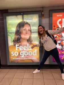 Emma Maslin PensionBee ad